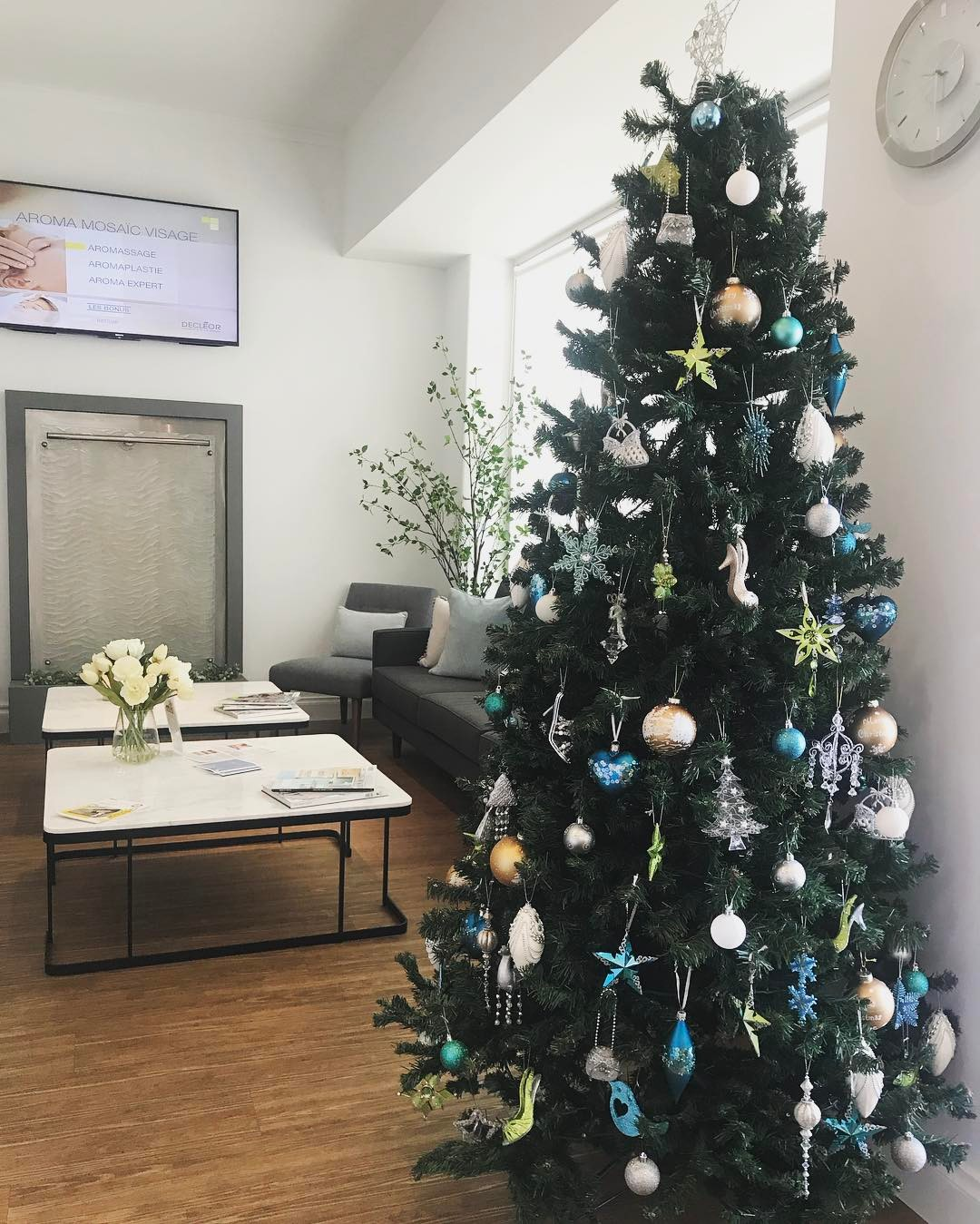 serene day spa's christmas tree