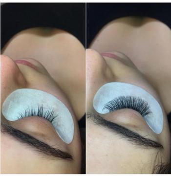 eyelashes after eyelash extension